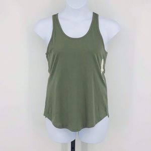 Olive Green Tank Top Tee Shirt Women's Large